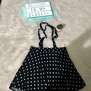NWT polka dot overall skirt